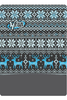 Баф лыжно-сноубордический 4FUN Polartec Deer blue