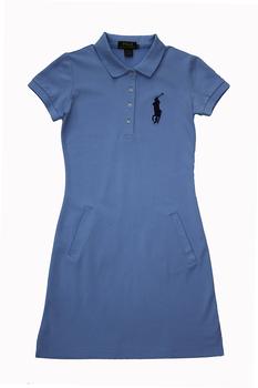 Платье Polo Ralph Lauren женское голубое