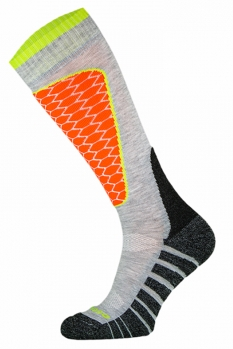 фото Носки горнолыжные Comodo SKI SOCKS PERFORMANCE L.GREY-ORANGE SKI1-06