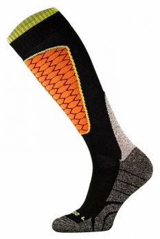 фото Носки горнолыжные Comodo SKI SOCKS PERFORMANCE BLACK-ORANGE SKI1-02