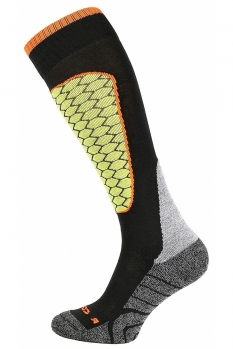 фото Носки горнолыжные Comodo SKI SOCKS PERFORMANCE BLACK-LIME SKI1-01